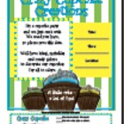 Invitation for Parent Involvement Event &quot;Cupcake&quot;