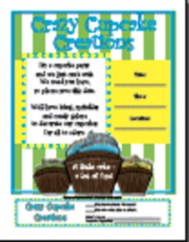 "Invitation for Parent Involvement Event ""Cupcake"""
