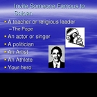 Invite Someone Famous to Your Hometown-PPT and Peer Editin