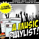 Ipod Playlist & Template: History or Reading Graphic Organizer