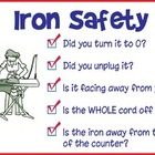 Iron Safety Poster or Sign
