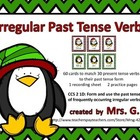 Irregular Past  Tense Verbs: Matching Card Game Center Act
