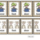 Irregular Plural Nouns  Matching Card Game