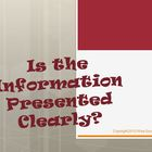 Is Information Presented Clearly Reading Strategy PowerPoint