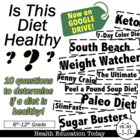 &quot;Is This Diet Healthy?&quot; Lesson: Analyze and Recognize Unhe