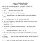 Island of the Blue Dolphin Chapter Quizzes