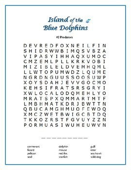 Island of the Blue Dolphins: 5 Word Searches Based on the Book!