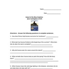 Island of the Blue Dolphins Quiz Chapters 16-20