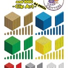 Isometric MAB block / base 10 blocks clip art - 84 images