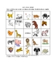 Italian Animal Picture Bingo and Hidden Words Puzzle