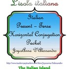 Italian Present-Tense Verb Horizontal Conjugation Packet