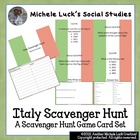 Italy Scavenger Hunt Card Game for Review - Geography, Fac