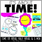 It&#039;s About Time!  Telling time activities