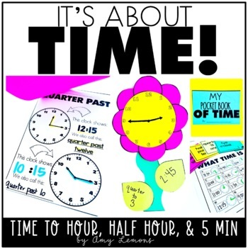 It's About Time!  Telling time activities