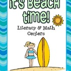 It&#039;s Beach Time! Literacy Centers