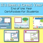 It&#039;s Been a Great Year - End of the Year Certificates for 
