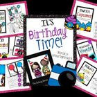 It's Birthday Time Bundled~ Math & Literacy Centers