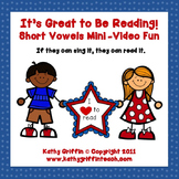 Short Vowel Word Families Mini Video Fun It's Great to Be Reading