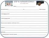 It's Snowing Text to Text Reading Response Organizer by Je