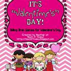 It&#039;s &quot;Valentime&#039;s&quot; Day!  Telling Time Games For Valentine&#039;s Day
