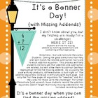 It's a Banner Day! {with Missing Addends}