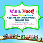 It&#039;s a Hoot! Owl Clipart Frames Backgrounds Borders for Co