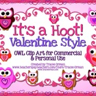 It&#039;s a Hoot! Valentine Style Owl Clipart &amp; Graphics for Co