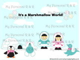 It's a Marshmallow World  Bulletin Board in a Bag