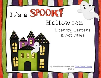 It's a Spooky Halloween - Literacy Centers and Activities