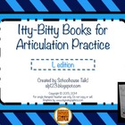 Itty-Bitty Books for Articulation Practice - L, R set