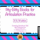 Itty-Bitty Books for Articulation Practice - P, B, M set