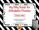 Itty-Bitty Books for Articulation Practice - S-Blends set