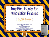 Itty-Bitty Books for Articulation Practice - SH, CH, J set