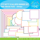 Itty Bitty Scalloped Borders - Rainbow Super Set