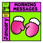 JANUARY - Easy Morning Messages - 3rd Grade