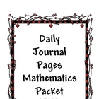 JOURNAL PAGES PACKET - Mathematics - daily