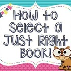 JUST RIGHT BOOK  -- How to select a Just Right Book - JUNG