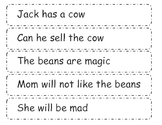 Jack and the Bean Stalk  Punctuation Center