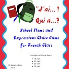 J&#039;ai Qui A Chain Game - French School Expressions &amp; Items