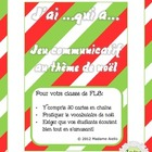 J&#039;ai Qui a Oral French Chain Activity - Christmas themed (nol)