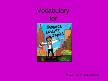 Jamaica Louise James Vocabulary Houghton Mifflin Series