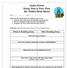 James Forten Revolutionary War Novel Packet Common Core Standards