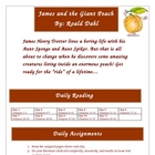 James and the Giant Peach Literature Circle Activities Com