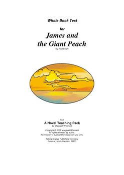 James and the Giant Peach Whole Book Test