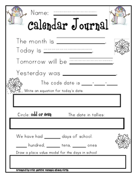 Jan-Apr  Calendar Journal