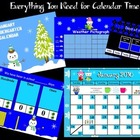 January 2014 Kindergarten Calendar for ActivBoard