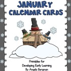 January Calendar Cards -** FREEBIE **