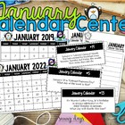 January Calendar Center Task Cards