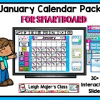 January Calendar Pack for Smartboard - Morning Math Activities