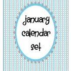 January Calendar Pieces Set